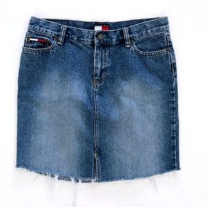 Tommy Hilfiger Women's Denim Jean Cutoff Skirt